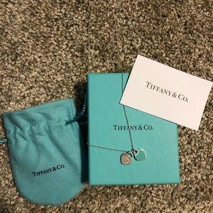 Tiffany &co mini heart necklace